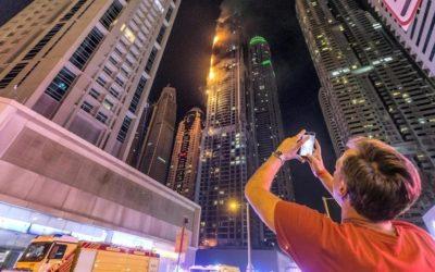 Небоскреб в Дубае загорелся в третий раз